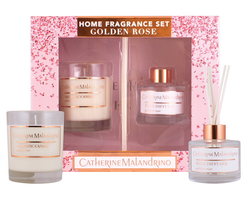 Catherine Malandrino Golden Rose home Fragrance Set